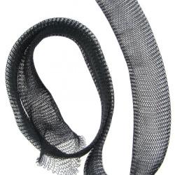Ширит плетен тел медна 20 мм черен