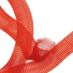 Ширит плетен тел медна 20 мм оранжев