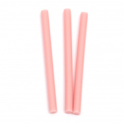 Silicone Hot Melt Glue Stick 7x100 mm color pink -5 pieces