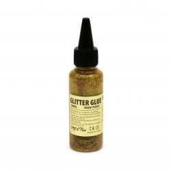 Glitter Glue Non-Toxic Decoration DIY 70 ml color gold