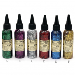 Glitter Glue Non-Toxic Decoration DIY, 70ml Multicolored