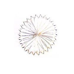 Împletitură de sârmă rotundă 6 mm argintiu -10 bucăți