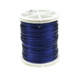 Sârmă de cupru 0,6 mm violet închis ~ 12 metri