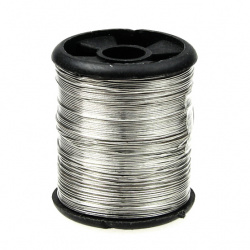 Тел медна 0.3 мм сребро ~9.5 метра