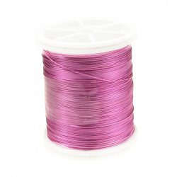 Sârmă cupru 0,3 mm roz perlat ~ 50 metri