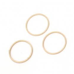 Κρίκος, ατσάλι 20x1 mm χρυσό, 10 κομμάτια