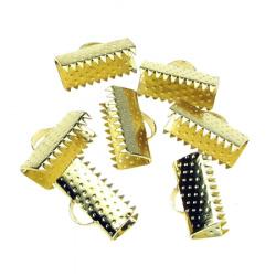 Накрайник метал 13 мм щипка цвят злато -50 броя