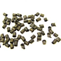 Стопер метал 1.5x1.5 мм цвят мед -100 броя