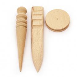 Σετ ξύλινων εργαλείων για λείανση  3 τεμάχια