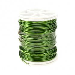 Тел медна 1.0 мм зелена светла ~6 метра