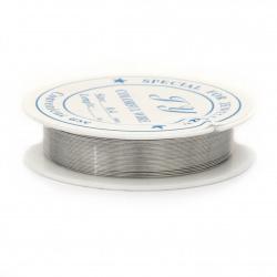 Желязна тел 0.4 мм цвят сребро ~12 метра