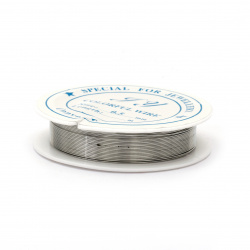 Желязна тел 0.5 мм цвят сребро ~7 метра