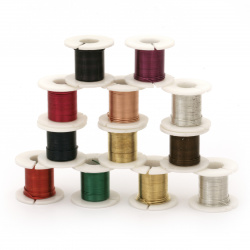 Wire iron 0.5 mm ASSORTED ~ 2.70 meters -12 colors