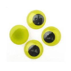 Wiggle Eyes for Decorations, DIY Crafts Handmade Accessories,yellow base 20 mm - 20 pieces