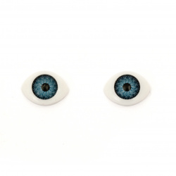 Plastic Eyes DIY Dolls Kids Crafts, Artificial Eye Decor 16x12x6 mm blue - 10 pieces