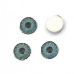 Resin Eyes for Decorations, DIY Crafts Handmade Accessories, 6x1.5 mm blue - 10 pieces