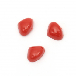 Triangular hemisphere for nose 8x6x4 mm red -50 pieces