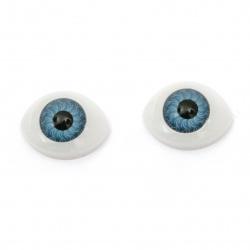 Plastic Eyes DIY Dolls Kids Crafts, Artificial Eye Decor 18x15x7mm blue - 10 pieces