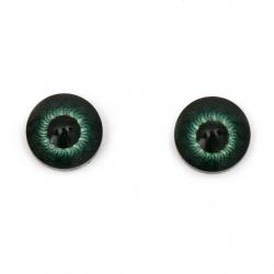 Ματάκια χειροτεχνίας 12x4,5 mm πράσινο -10 κομμάτια