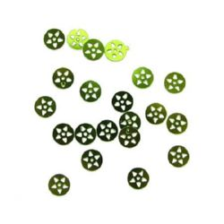 Sequins round star 8 mm green -20 grams