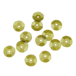 Sequins round 8 mm khaki - 20 grams