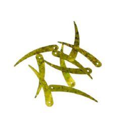 Sequins pendant 33 mm gold arc - 20 grams
