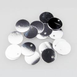 Στρόγγυλες πούλιες, 10 mm ασημί - 20 γραμμάρια