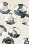 Στρόγγυλες πούλιες, 8,5 mm ασημί - 20 γραμμάρια