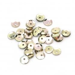 Πούλιες στρογγυλές flat  χρυσές  6 mm - 20 γραμμάρια