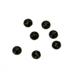 Piatră acrilică pentru cusut fațetă rotundă de 5 mm negru fațetat -100 bucăți