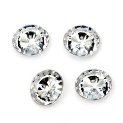Acrylic Rhinestone, Hot-Fix Decoration, Clothes, DIY, Craft, Jewelry Making  10x4 mm round transparent faceted -20 pieces
