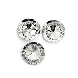 Acrylic Rhinestone, Hot-Fix Decoration, Clothes, DIY, Craft, Jewelry Making  12x4 mm round transparent faceted -20 pieces
