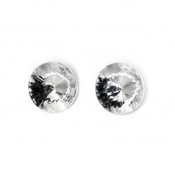 Acrylic Rhinestone, Hot-Fix Decoration, Clothes, DIY, Craft, Jewelry Making  25x8 mm round transparent faceted -5 pieces