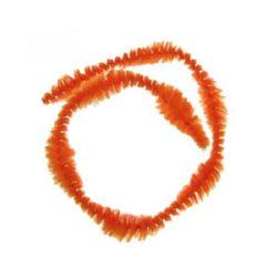 Tijă de sârmă cu opt reliefuri x2,5 cm portocaliu -30 cm -10 bucăți