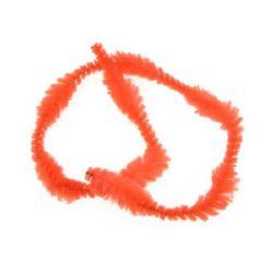 Lansetă cu opt reliefuri x2,5 cm portocaliu strălucitor -30 cm -10 bucăți