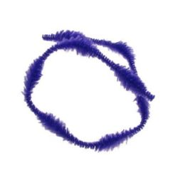 Пръчка телена с осем релефа x2.5 см лилава тъмна -30 см -10 броя
