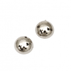 Bead hemisphere for sewing 12 mm color silver - 25 pieces