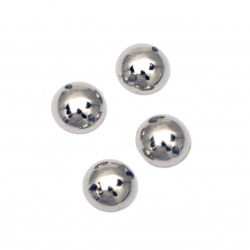 Bead hemisphere for sewing 8 mm color silver - 50 pieces