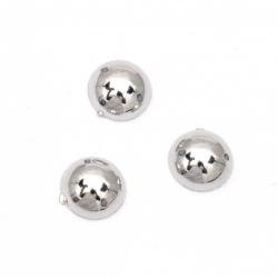 Emisfera perlată pentru cusut 10 mm culoare argintie -50 bucăți