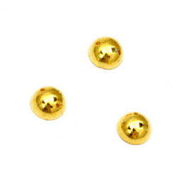 Bead hemisphere for sewing 7 mm color gold - 50 pieces