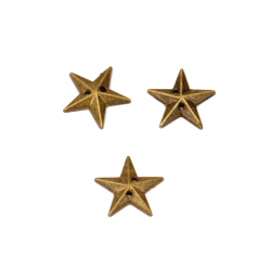 Acrylic stone for sewing 12 mm star color bronze - 50 pieces