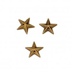 Piatra acrilica pentru cusut 12 mm culoare stea bronz -50 bucati
