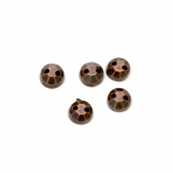 Acrylic stone for sewing 5mm round faceted color antique copper - 100 pieces