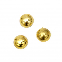 Bead hemisphere for sewing 12 mm color gold - 25 pieces
