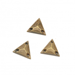 Acrylic stone for sewing 11x3x11 mm triangle faceted bronze color - 50 pieces