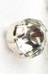 Камък за пришиване с метална основа 7 мм екстра качество бял -10 броя