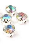 Καστόνι με κρυσταλλάκι 5x5 mm ποιότητας AA χρώμα ουράνιο τόξο -10 τεμάχια