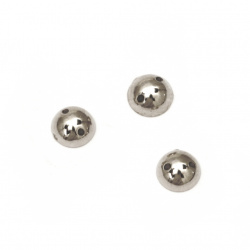Bead hemisphere for sewing 6 mm color silver - 50 pieces