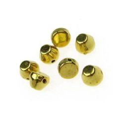 Sewing bead 6x4x5 mm gold color -50 pieces