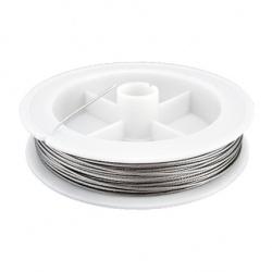 Steel Cord, Jewelry DIY Making  0.50 meters in color silver -50 meters
